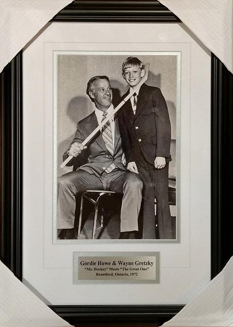 Gretzky & Howe 1972 8x12 Framed