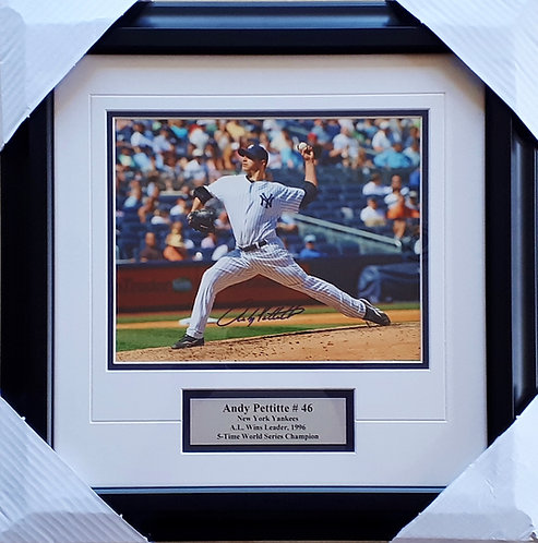 Pettitte, Andy Autographed Yankees 8x10 Photo Framed