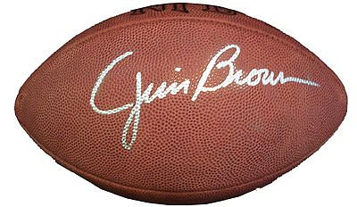 Brown, Jim Autographed NFL Wilson Football