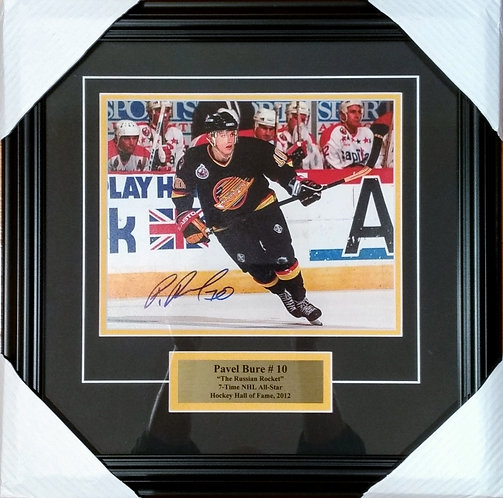 Bure, Pavel Autographed Canucks 8x10 Framed