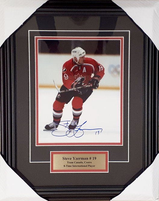 Yzerman, Steve Autographed Team Canada 8x10 Photo Framed