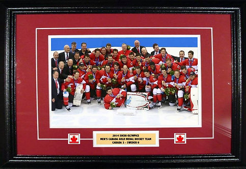 Team Canada 2014 Men's Olympic 8x12 Framed