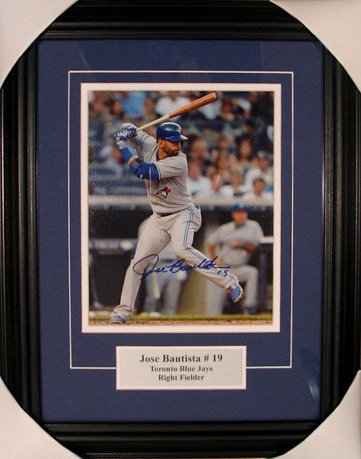 Bautista, Jose Autographed Blue Jays 8x10 Photo Framed