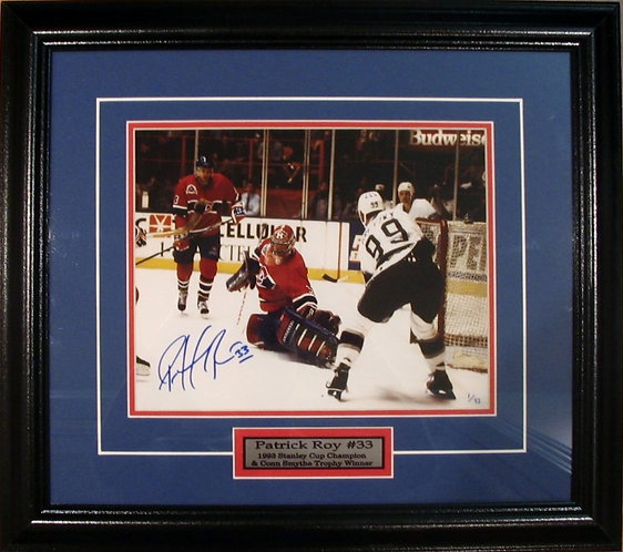 Roy, Patrick Autographed Canadiens vs. Gretzky 8x10 Photo Framed