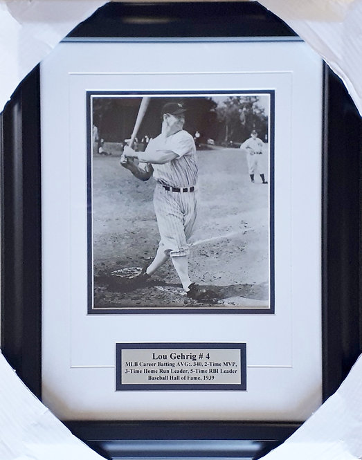 Gehrig, Lou Yankees 8x10 Photo Framed