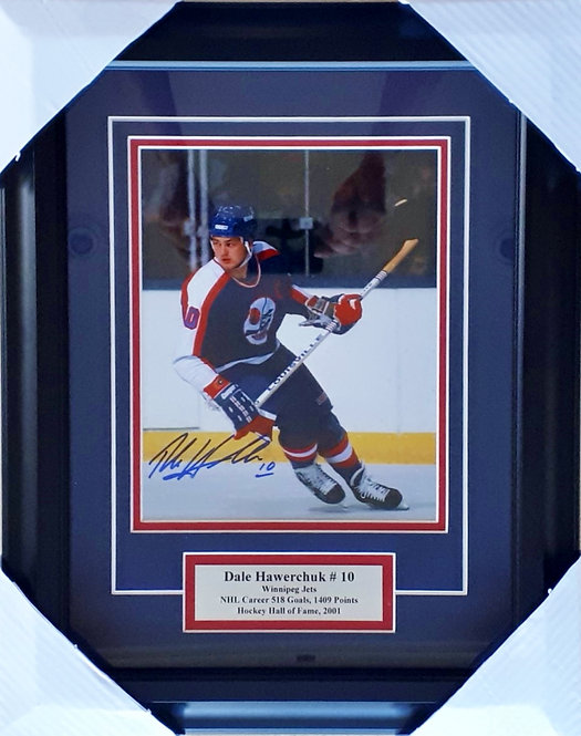 Hawerchuk, Dale Autographed Jets 8x10 Photo Framed