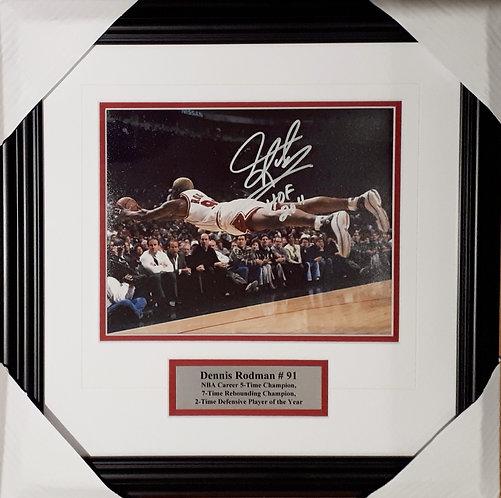 Rodman, Dennis Autographed Bulls 8x10 Photo Framed