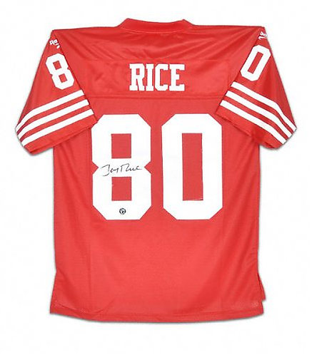 Rice, Jerry Autographed 49ers Jersey