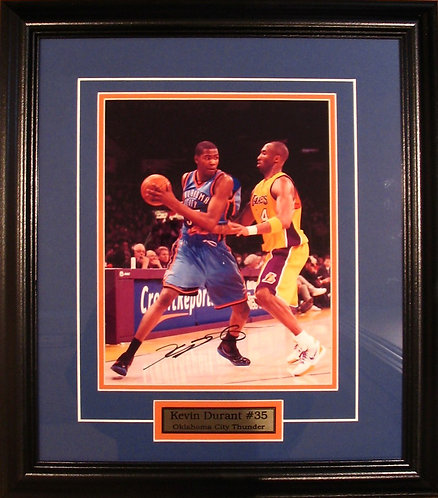 Durant, Kevin Autographed Thunder 8x10 Photo Framed
