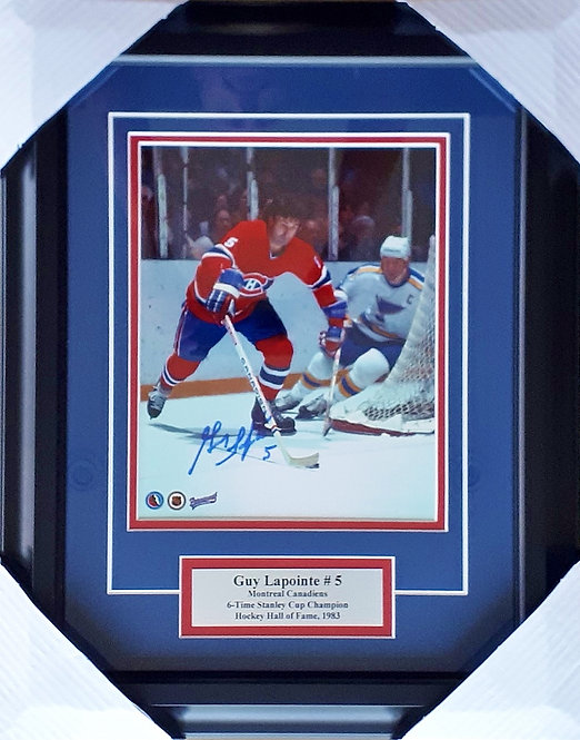 Lapointe, Guy Autographed Canadiens 8x10 Photo Framed