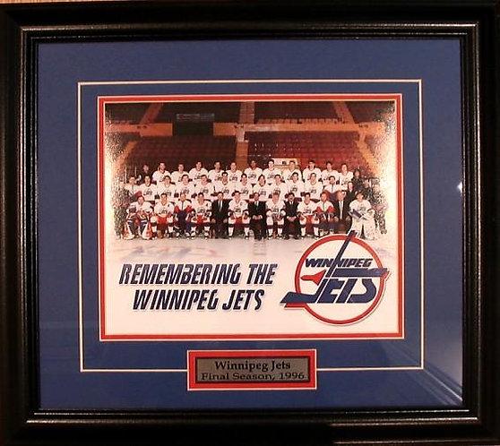 Winnipeg Jets 1996 Team 8x10 Photo Framed