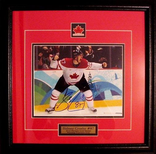 Crosby. Sidney Autographed 2010 Olympic Team Canada 8x10 Framed