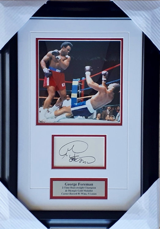 Foreman, George Autographed Card & Photo Framed