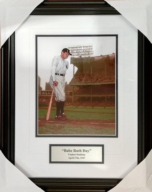 "Ruth, Babe Yankees ""Ruth Day"" 8x10 Photo Framed"
