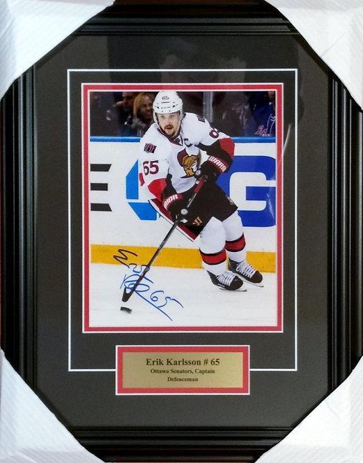 Karlsson, Erik Autographed Senators 8x10 Photo Framed
