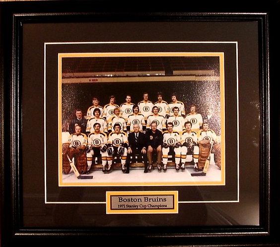 Boston Bruins 1972 Team 8x10 Framed