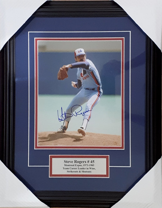 Rogers, Steve Autographed Expos 8x10 Photo Framed