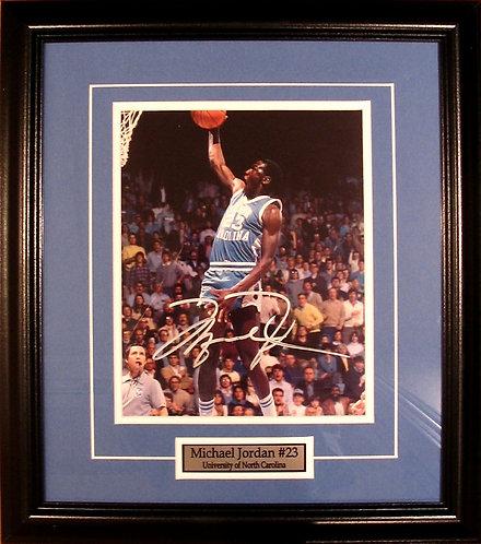 Jordan, Michael Autographed North Carolina 8x10 Photo Framed