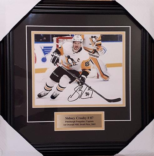 Crosby, Sidney Autographed Penguins 8x10 Framed