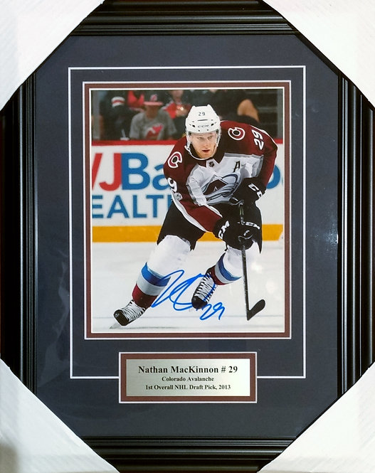 MacKinnon, Nathan Autographed Avalanche 8x10 Photo Framed