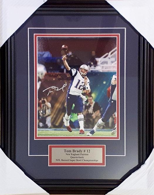 Brady, Tom Autographed Patriots 8x10 Photo Framed