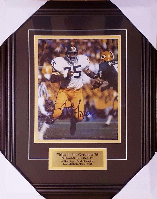 Greene, Joe Autographed Steelers 8x10 Photo Framed