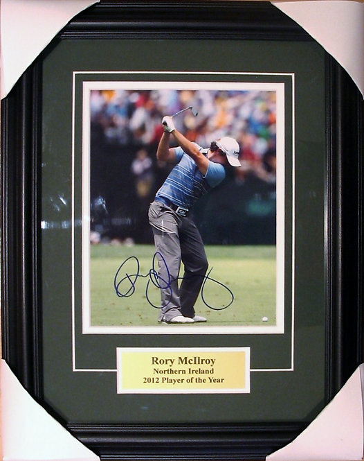 """McIlroy, Rory Autographed """"Driving"""" 8x10 Photo Framed"""