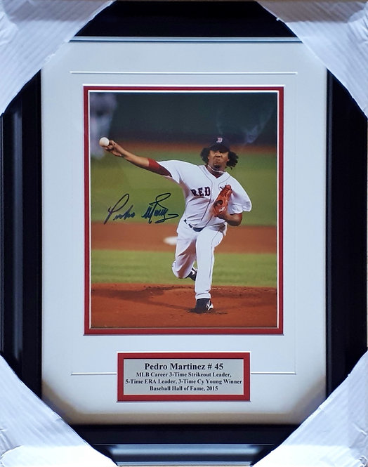 Martinez, Pedro Autographed Red Sox 8x10 Photo Framed