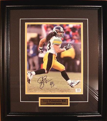 Polamalu, Troy Autographed Steelers 8x10 Photo Framed