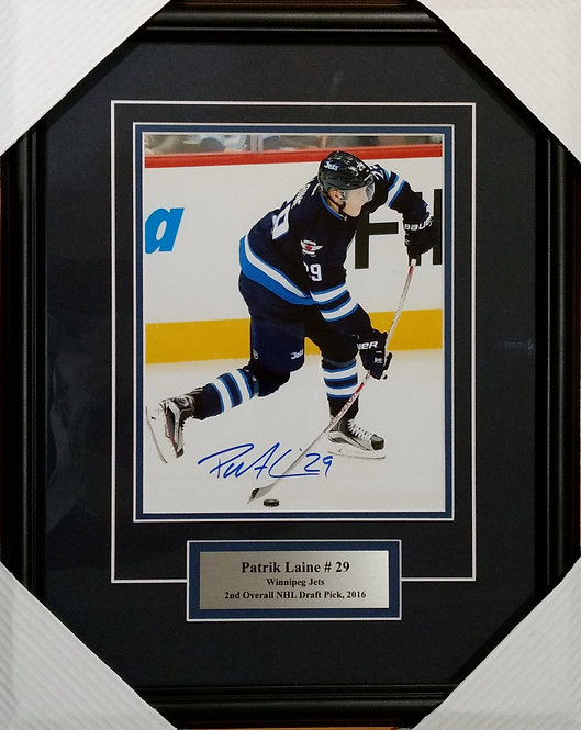 Laine, Patrik Autographed Jets 8x10 Photo Framed