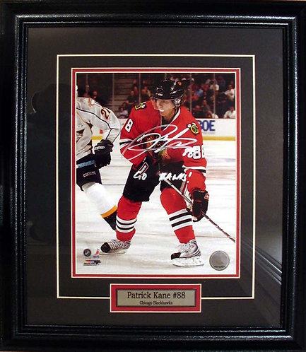 Kane, Patrick Autographed Blackhawks 8x10 Photo Framed