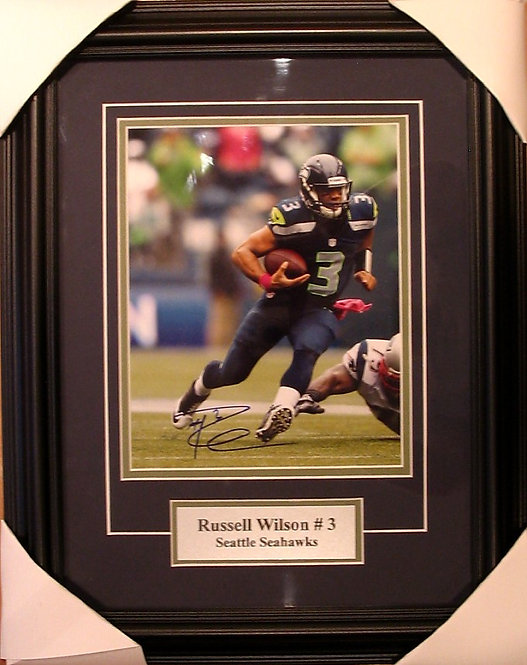Wilson, Russell Autographed Seahawks 8x10 Photo Framed