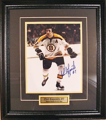 Esposito, Phil Autographed Bruins 8x10 Framed