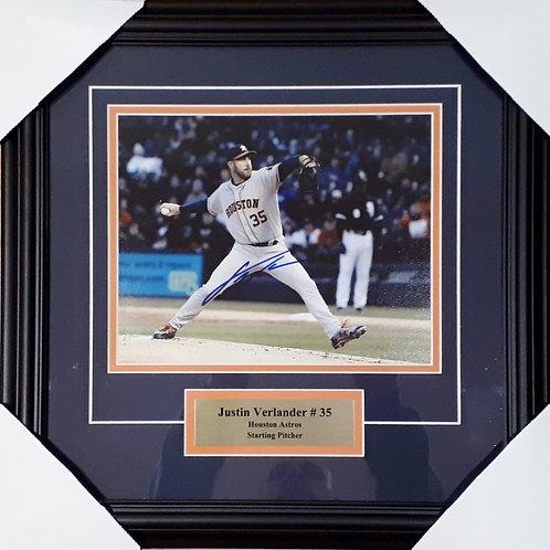Verlander, Justin Autographed Astros 8x10 Photo Framed