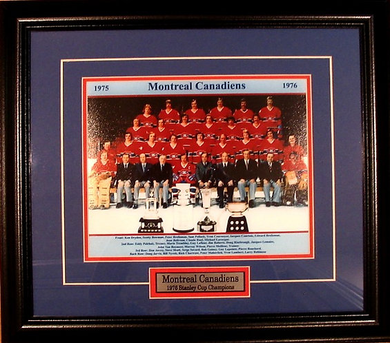 Montreal Canadiens 1976 Team 8x10 Photo Framed