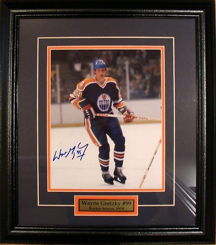 Gretzky, Wayne Autographed Oilers Rookie 8x10 Framed