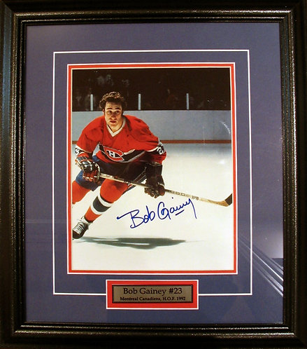 Gainey, Bob Autographed Canadiens 8x10 Framed