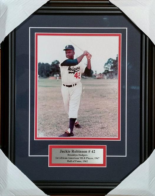 Robinson, Jackie Dodgers 8x10 Photo Framed