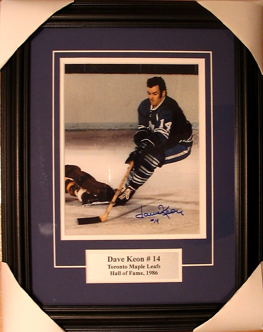 Keon, Dave Autographed Maple Leafs 8x10 Photo Framed
