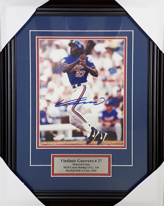 Guerrero, Vladimir Autographed Expos 8x10 Photo Framed