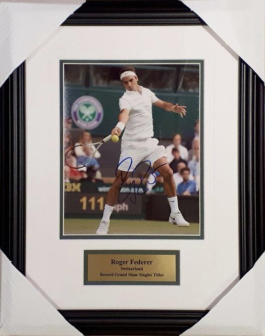 Federer, Roger Autographed 8x10 Photo Framed