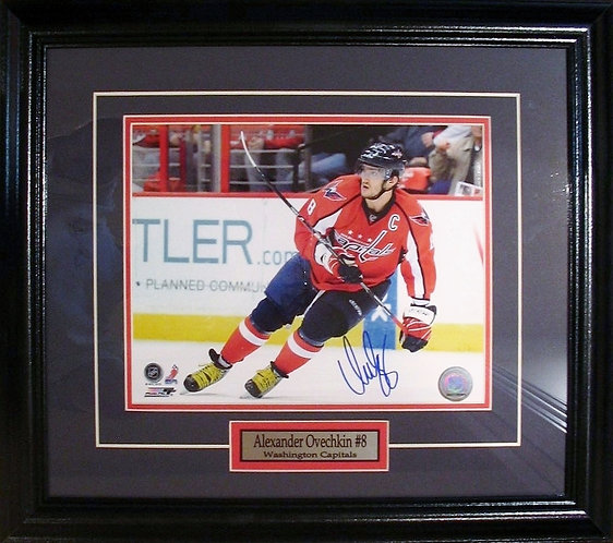 Ovechkin, Alex Autographed Capitals 8x10 Photo Framed