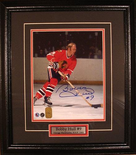Hull, Bobby Autographed Blackhawks 8x10 Framed