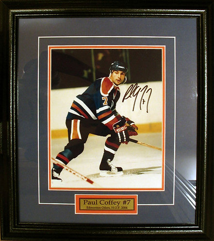 Coffey, Paul Autographed Oilers 8x10 Framed
