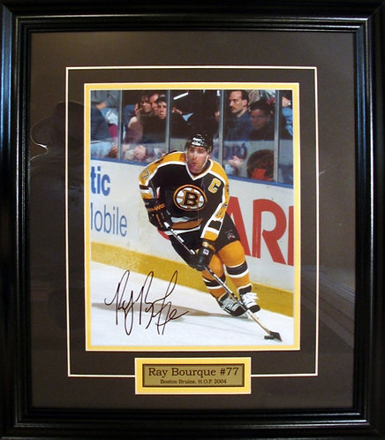 Bourque, Ray Autographed Bruins 8x10 Photo Framed