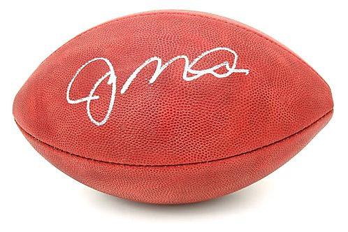 Montana, Joe Autographed NFL Wilson Football