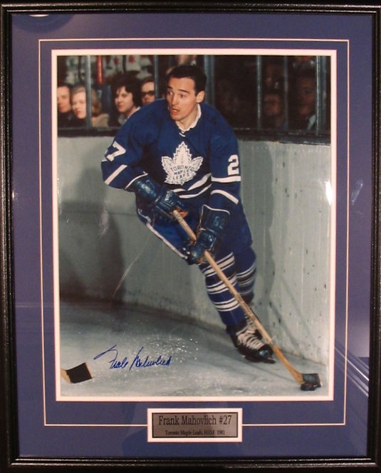 Mahovlich, Frank Autographed Maple Leafs 8x10 Photo Framed