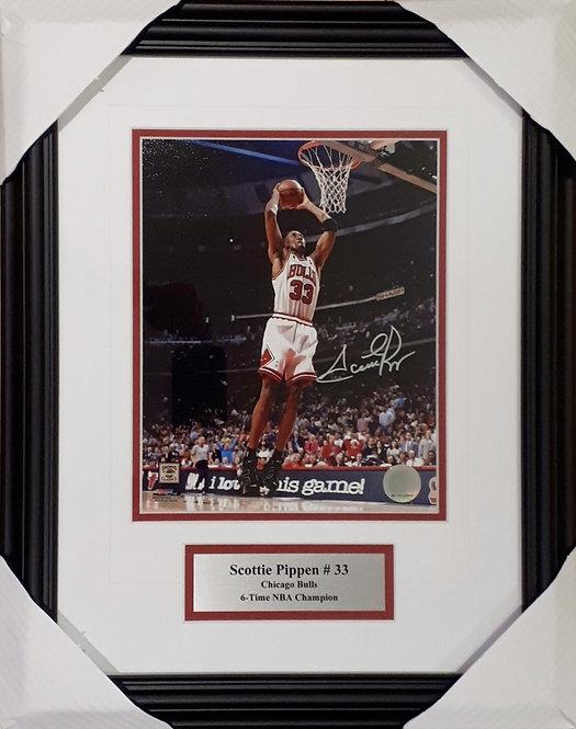 Pippen, Scottie Autographed Bulls 8x10 Photo Framed