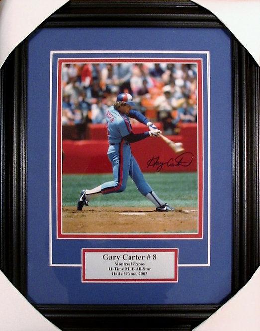 Carter, Gary Autographed Expos 8x10 Photo Framed