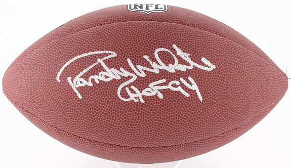White, Randy Autographed NFL Wilson Football